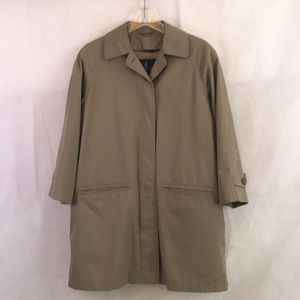London Fog RN 34460 Men's Trench Coat Sz M Petite